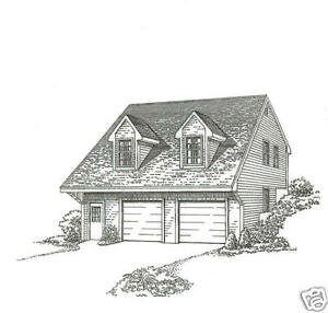 30 x 32 2 car hill side carriage garage building plans for Carriage house plans cost to build