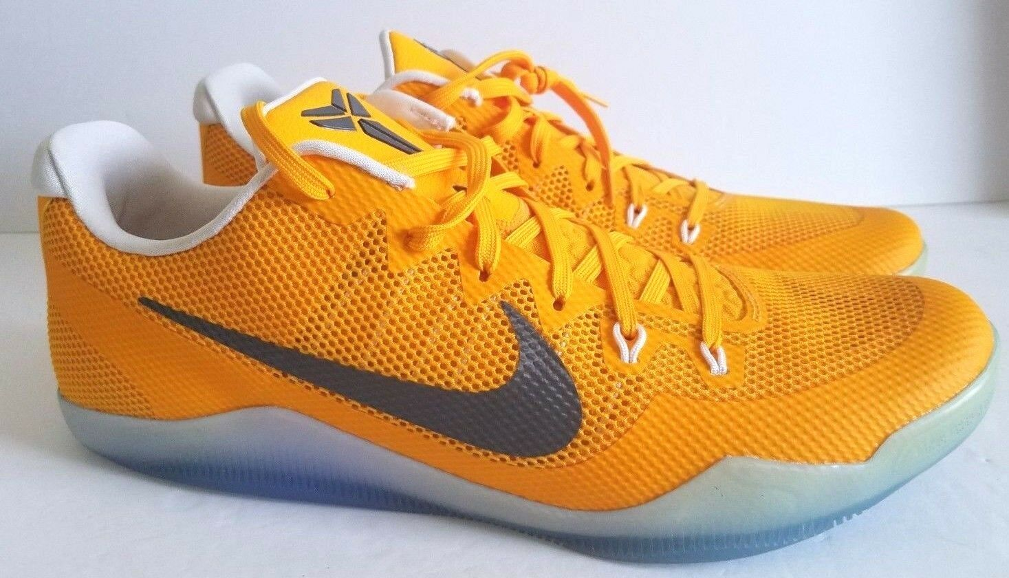 Nike Mens Kobe XI TB Promo University gold Basketball shoes 856485 771 Size 17