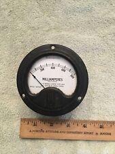 Vintage Military Radio Panel Meter Westinghouse Dc Milliamperes 0 800 Me532