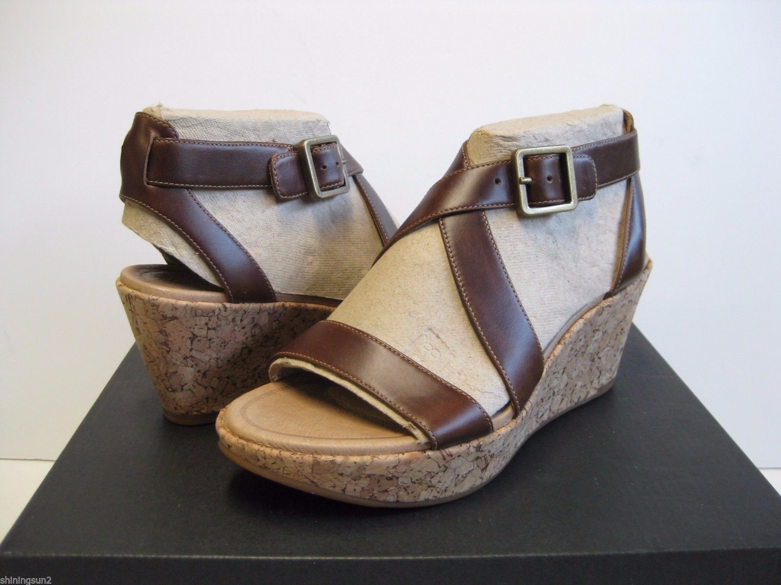 Tsubo Olivette Bourbon Women Wedges US 9.5 or 10