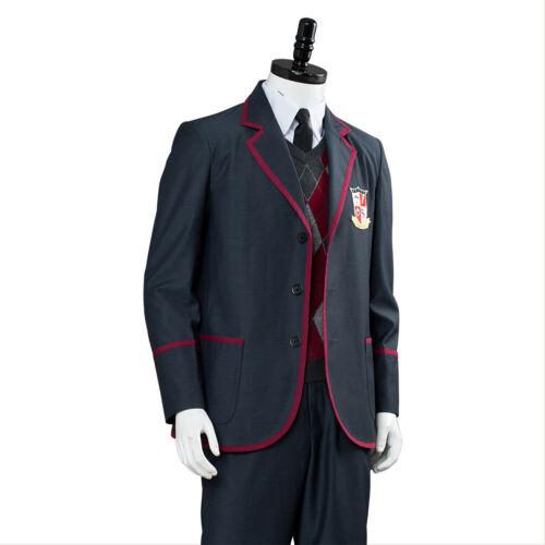 NEW The Umbrella Academy Cosplay Costume School Uniform Suit Blazer Full Outfit