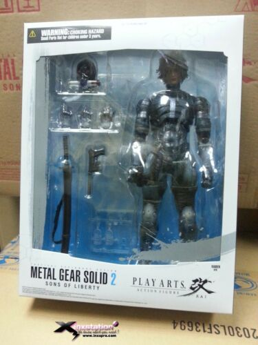 SQUARE ENIX METAL GEAR SOLID 2 SONS OF LIBERTY PLAY ARTS KAI RAIDEN