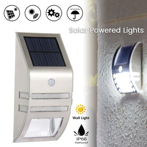 LED Solar Powered Lights Garden Motion Sensor Security Wall Light Outdoor Lamp