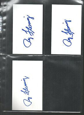 Hockey-nhl Reg Fleming Autograph/auto/hand-signed Index Card 3x5 A 3