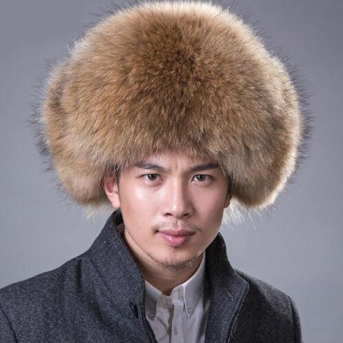 Ouchanka Homme Chapka Fourrure Renard Authentique Russe Style Coiffe Noël Cadeau