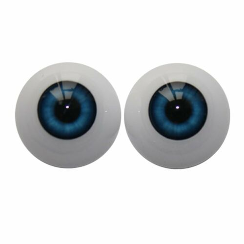 1Pair 22mm Cobalt Half Round Acrylic Blue Eyes for Reborn baby Dolls Newborn Toy