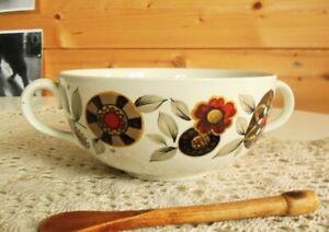 Vintage-Ridgway-Galaxy-Soup-Bowl-Retro-Floral-Pattern-Ceramic-Tableware-60s-70s