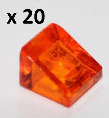LEGO Slope 30 1 x 2 x 2//3 Trans Orange x20 Creator Star Wars Super Heroes Train