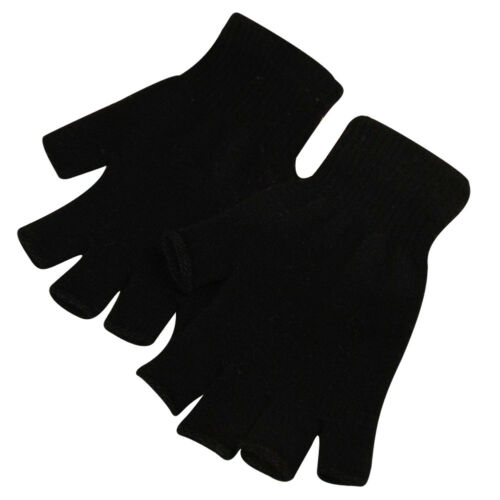 1 Pair Women Men Soft Half Finger Gloves Winter Warm Knitted Mittens Fingerless