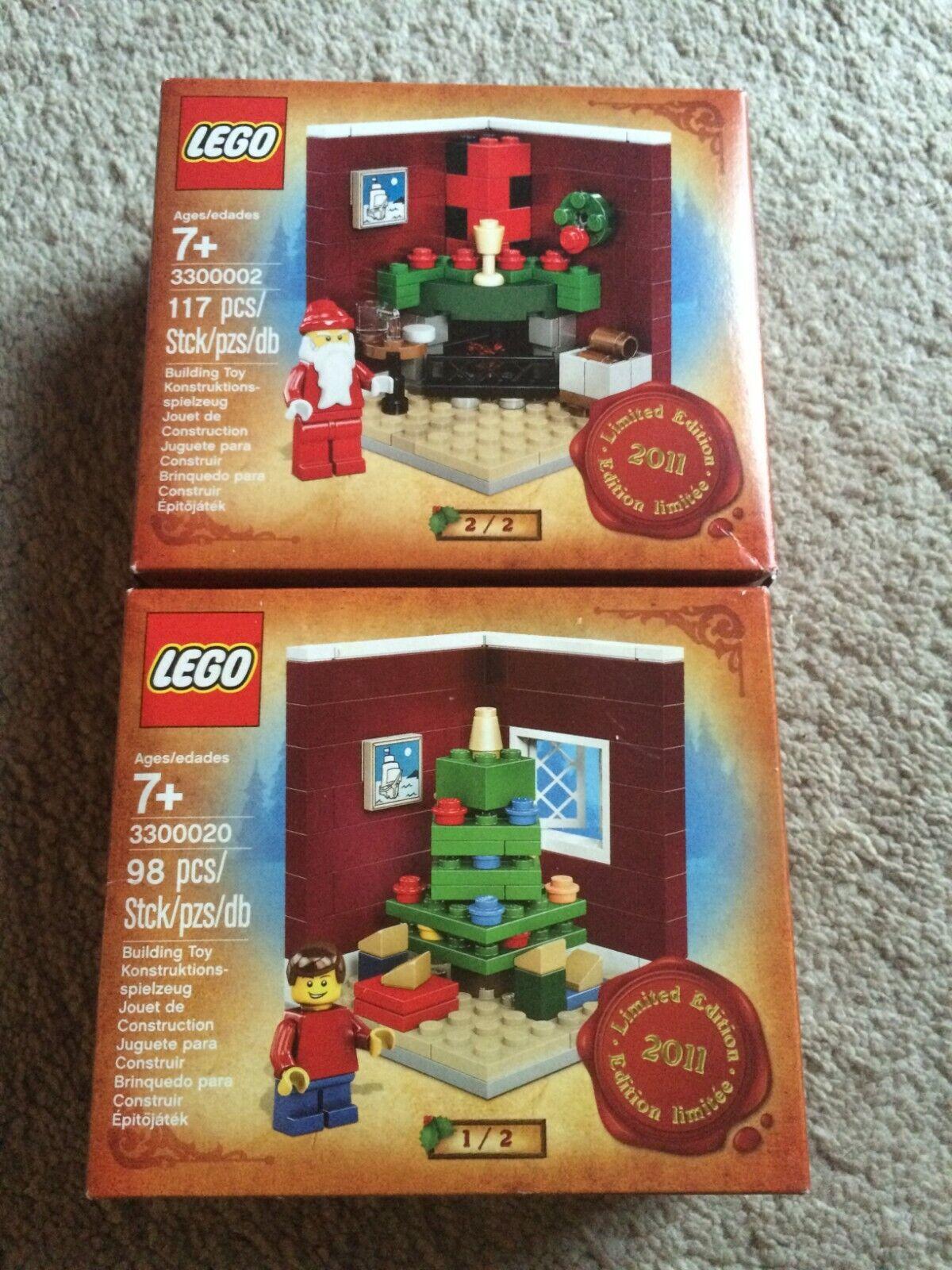 Lego Holiday Christmas 2011 Limited Edition Set Santa Tree 3300002 & 3300020 NEW