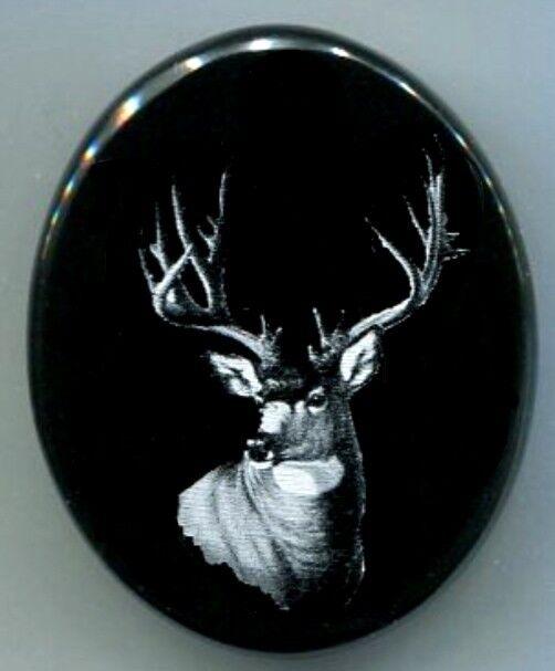Grip Cap  No Screws White Tail Deer Engraving Remington 700,740,742,7400