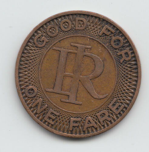 Richmond Indiana IN800A transit token Indiana Railroad Division of Wesson Co