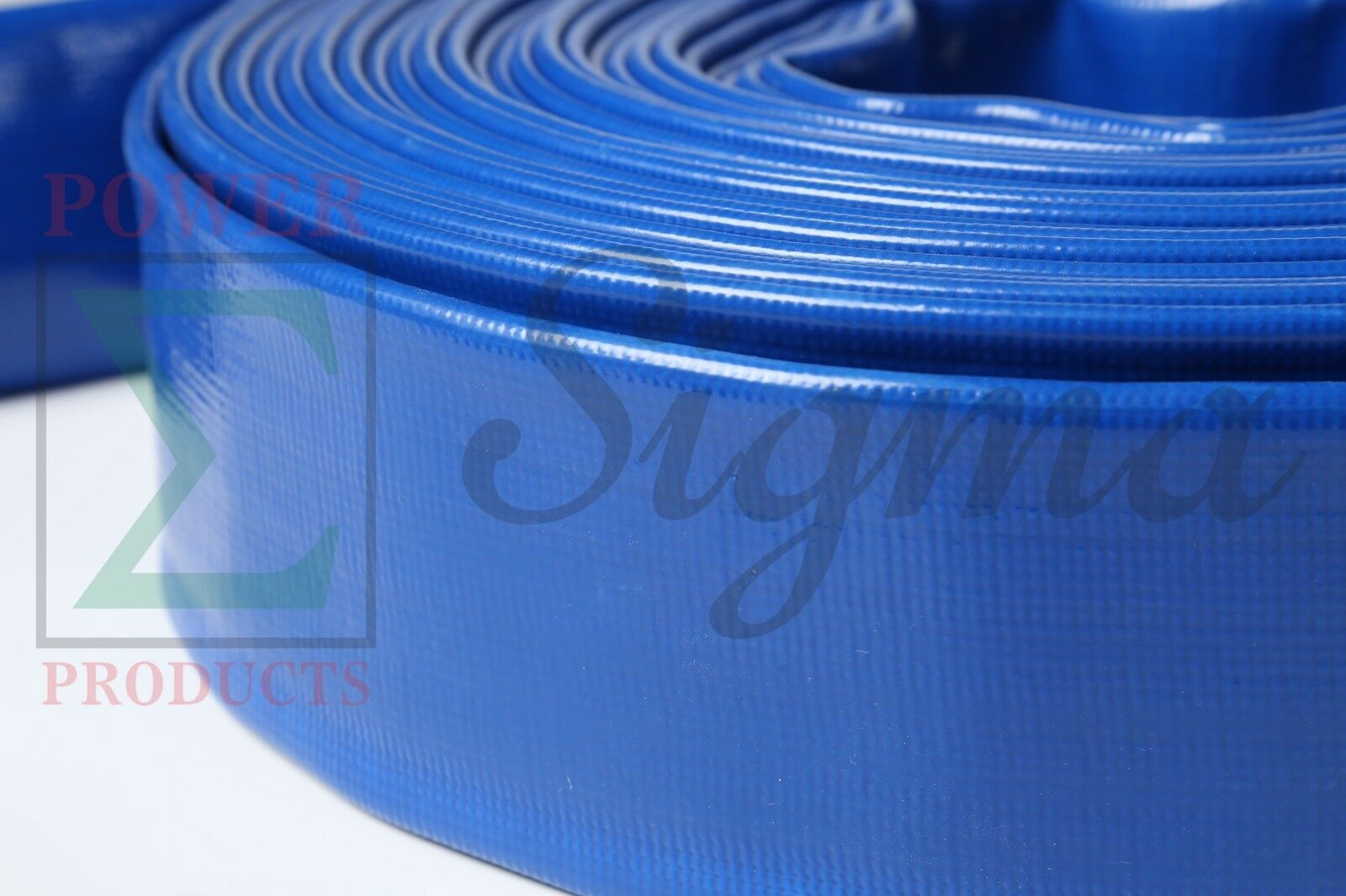 """Sigma 1-1//2/"""" 1.5/"""" Inch X 300/' Ft 4 Bar PVC Lay Flat Water Pump Discharge Hose"""