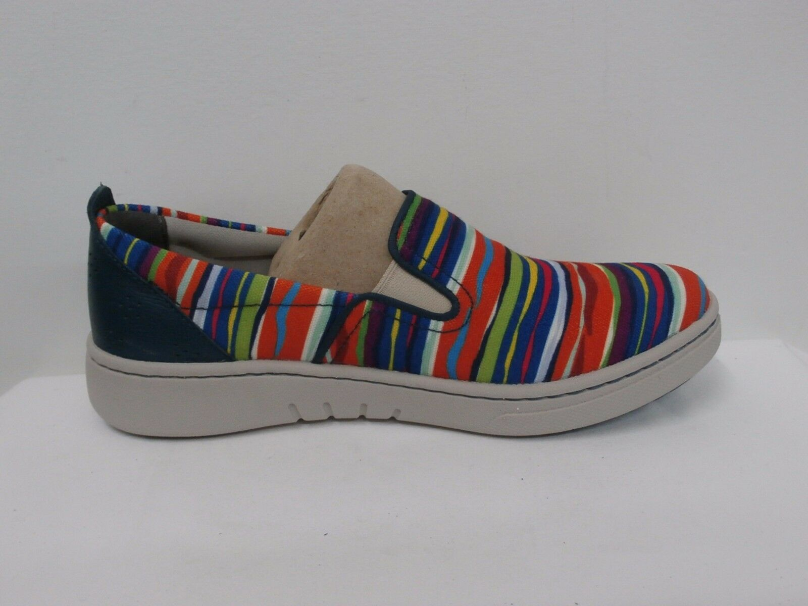 Dansko Canvas Twin Gore Slip-on Sneakers - Belle Canvas MULTI STRIPE Size 37