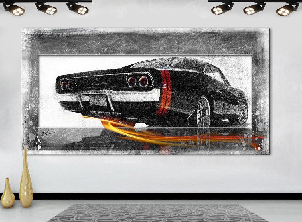 Dom's Dodge Charger R/T Voiture Oldtimer DECO Images Toile D'art LA LA D'art FRESQUE 1933 A 2d7739