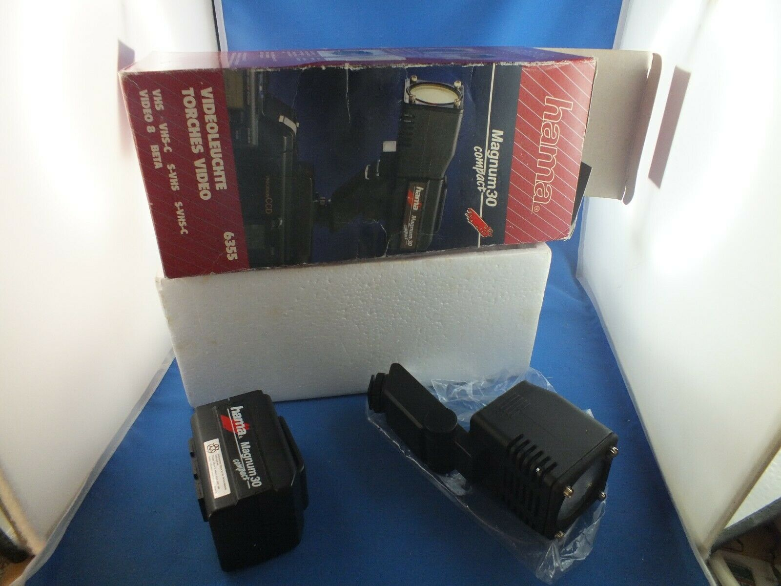 Hama Magnum 30 COMPACKT Video light, not tested with battery op Without Charger