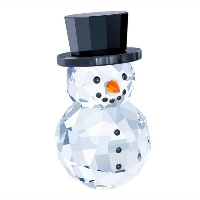 SWAROVSKI Crystal Pupazzo di Neve Swarovski con cappello 5135852 nuovo 6d6db0272b63