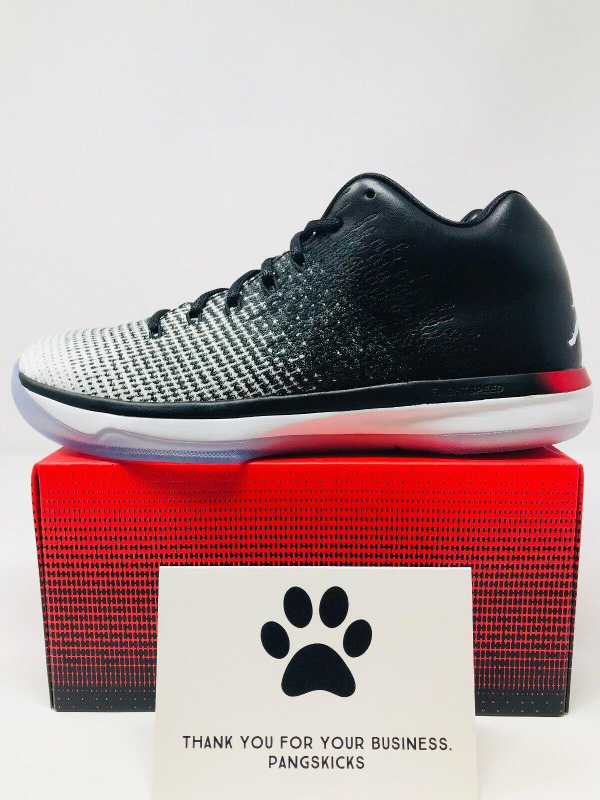 Nike Black Air Jordan 31 Low 'Quai 54' Black Nike White 921195-154 Size 9 b84e50