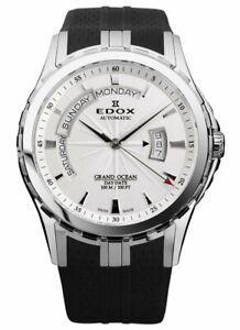 Edox 83006 3CA AIN Men's Grand Ocean Silver Automatic Watch New