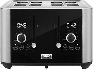 Bella Pro Series - 4-Slice Digital Touchscreen Toaster - Stainless Steel