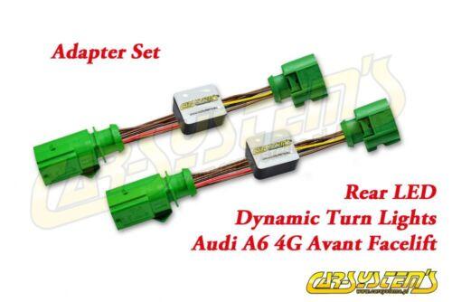 AUDI A6 4G Avant Facelift-conjunto de adaptador de LED dinámico semi-trasero led giro dinámico