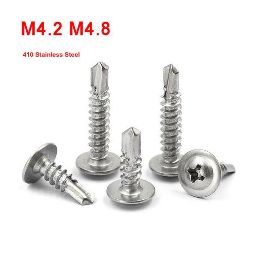 410 Stainless Steel Phillips Truss Head Self-drilling Screws M4.2 M4.8 13-50mm L