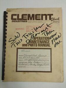 Clement-Industries-Operation-Maintenance-And-Parts-Manual-Dump-End-RKHL3326BR
