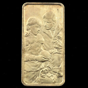 ONE-OZ-999-SILVER-BAR-A-FATHER-039-S-JOE-The-Hamilton-Mint