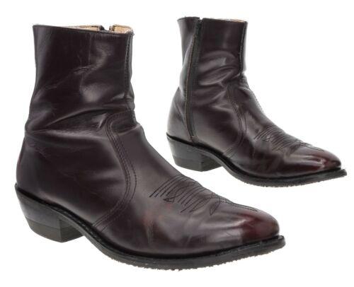 Vtg Ankle Boots 13 D Mens BEATLE BOOTS Leather Mot