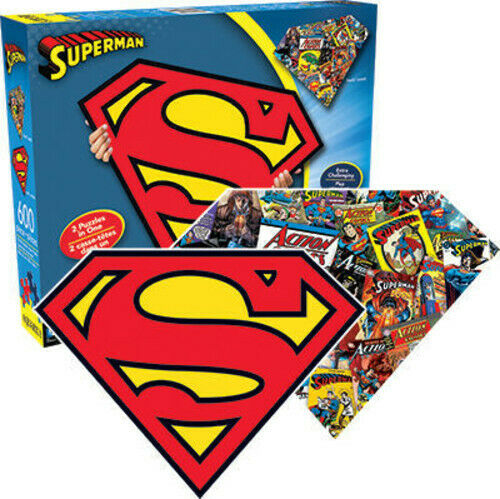 Superman Logo (2 Sided, Shaped Puzzle) - Shaped Puzzle) Superma (Video Game New)