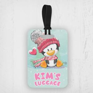 Personnalisé Enfants Mignon Pingouin Custom Travel Voyage Valise Sac Bagages Balises