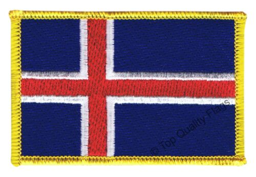 Iceland Flag EMBROIDERED PATCH 8x6cm Badge