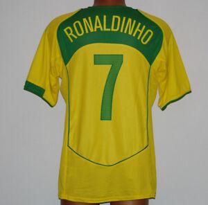 separation shoes cdbfb e0c12 La imagen se está cargando shirt -brasil-Ronaldinho-7-World-Cup-qualifiers-2004-