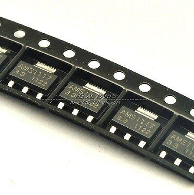 50pcs AMS1117-3.3 LM1117-3.3  AMS1117 3.3V 1A Voltage Regulator SOT-223 M153