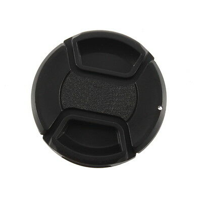 58mm Center Pinch Snap on Front Lens Filter Cover Cap With Cord For Canon NX