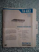 sony ta ax2 2 kanal verst rker ebay rh ebay com Sony Amplifier Ta -3 Sony Ta- H200