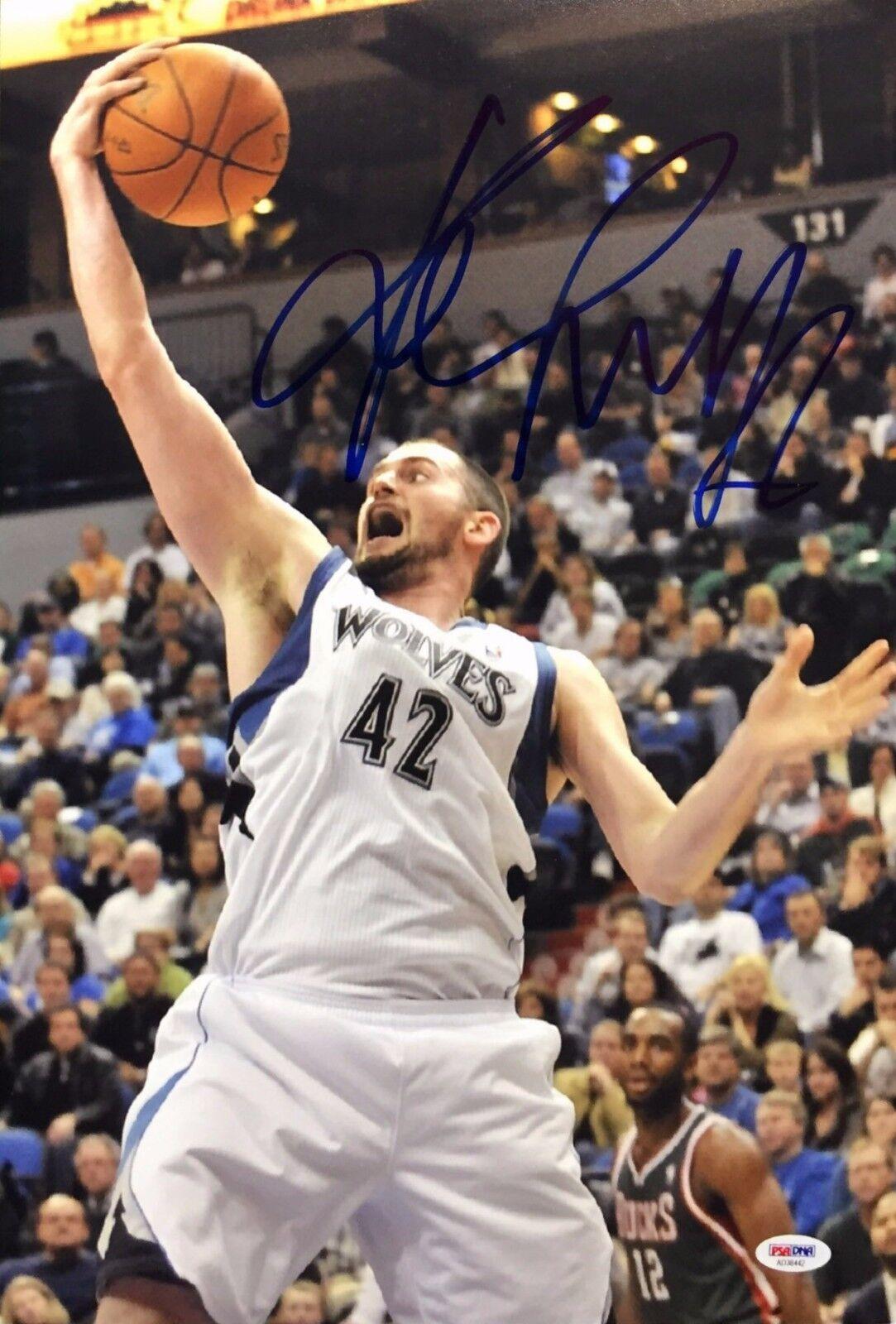 Kevin Love Signed Minnesota Timberwolves Basketball 12x18 Photo PSA AD38442