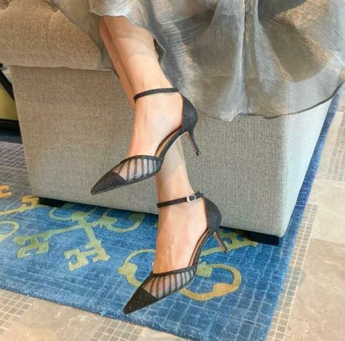 2020 Printemps Été Nouveau Femmes Mesdames élégant Bout Pointu Mi-Talon unique Chaussures