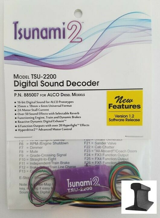 Soundtraxx  New 2019  Tsunami 2  TSU-2200 Alco Diesel Sound Decoder  885007
