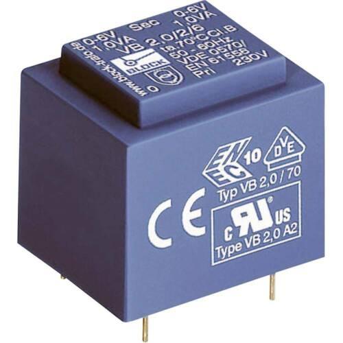 Transformateur pour circuits imprimés Block VB 2,8//1//12 1 x 230 V 1 x 12 V//AC