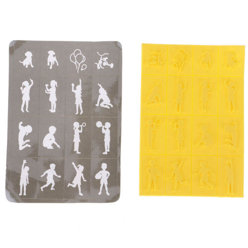 Easy To Use DIY Decor Cute Cartoon Cats Elves Angels Sponge Stamps /& Iron Box