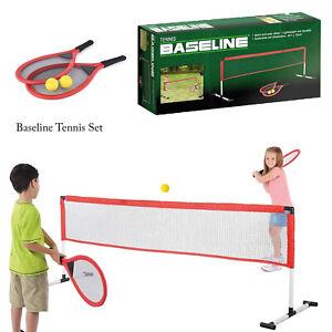 Baseline-Kids-Fun-Outdoor-Garden-Lightweight-Durable-Soft-Starter-Tennis-Set-Kit
