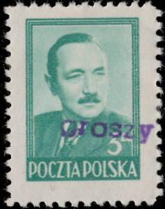 POLOGNE-POLAND-1950-GROSZY-O-P-T-1-Warsaw-Central-Supply-Mi622-MOGNH