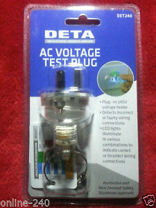 Phenomenal New Genuine Deta Ac Voltage Tester Au Plug Top Correct Wiring Wiring Cloud Nuvitbieswglorg