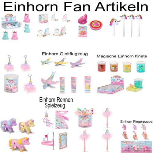 Einhorn Fan Artikeln Unicorn Spielzeug Schlüsselanhänger Stift Knete Mitgebsel