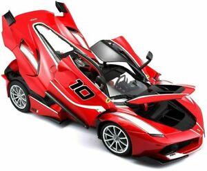 FERRARI FXX-K #10 RED 1:18 DIECAST MODEL CAR BY BBURAGO 16010