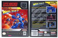 Mega Man 7 - Super Nintendo Snes Custom Case No Game