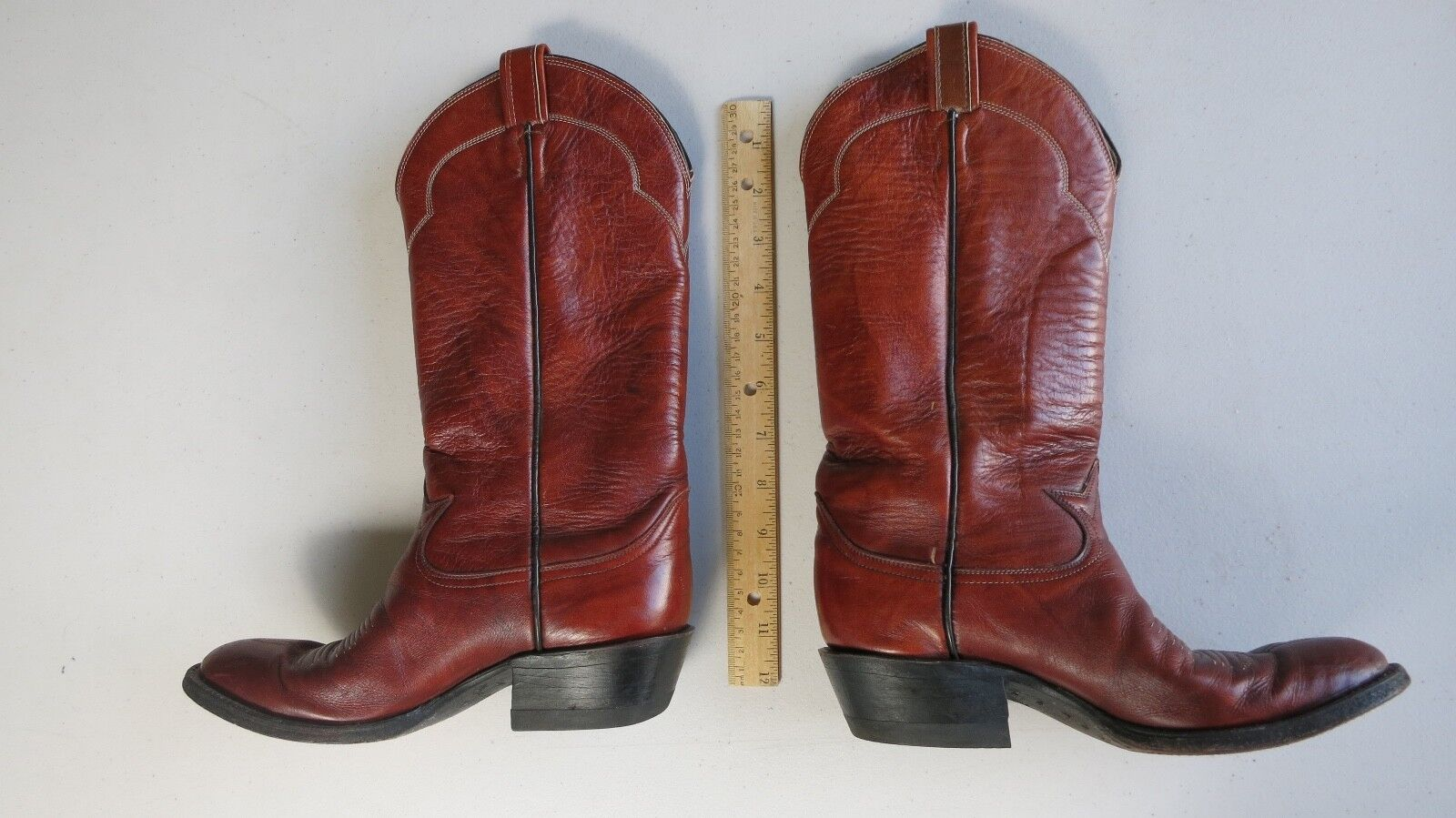 Ladies TONY LAMA 5084 Brown Leather Cowboy Western Boots Size 5B USA