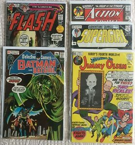 Lot/5 1971 DC Pence Cover VARIANTS Action 402 Flash 208 Detective 413 +2 More!