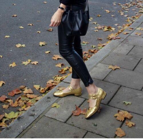 de tamaño Reino Angelina dorado 5 Unido brillo vintage euros con zapatos retro Orla Kiely 38 del 1wq0XX